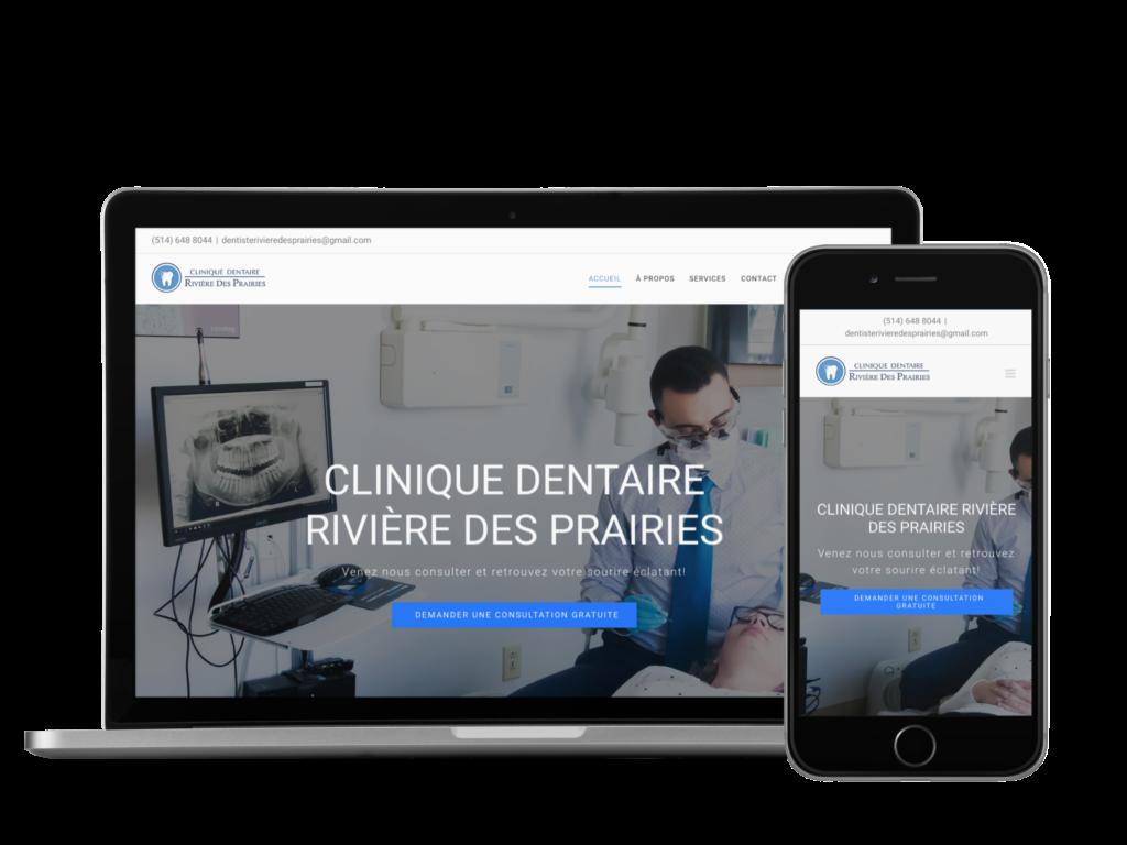 Site web de la clinique rivière-des-prairies